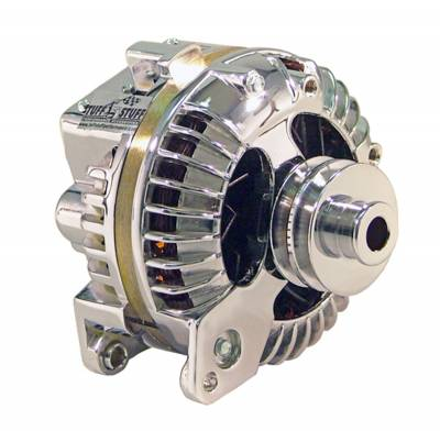 Chrysler 1960-1988 - 1-Wire - Tuff Stuff Performance - Alternator 100 AMP 1 Wire Double Groove Pulley Chrome 8509RDDP