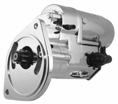 Starter - Small Block - Tuff Stuff Performance - Gear Reduction Starter 2 Bolt Mounting Chrome Mini Denso Series 3 HP 13132A