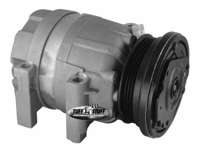 Air Conditioning Compressor - Camaro Firebird - Tuff Stuff Performance - LS1 Series A/C Compressor 4 Groove Pulley As Cast 4510NC