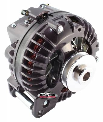 New Products - Alternators - High Amp - Tuff Stuff Performance - Alternator 130 AMP 1 Wire Single Groove Pulley Black Chrome 9509RDSP7