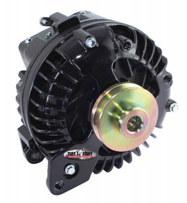 New Products - Alternators - High Amp - Tuff Stuff Performance - Alternator 130 AMP 1 Wire Single Groove Pulley Stealth Black 9509RESP