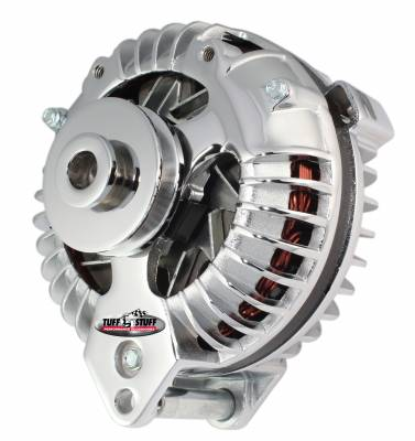 New Products - Alternators - High Amp - Tuff Stuff Performance - Alternator 130 AMP OEM Wire Single Groove Pulley Chrome 9509RCSP