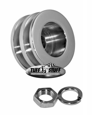 Alternator - Accessories - Tuff Stuff Performance - Alternator Pulley 2.25 in. Double V Groove Incl. Lockwasher/Nut Chrome 7610F