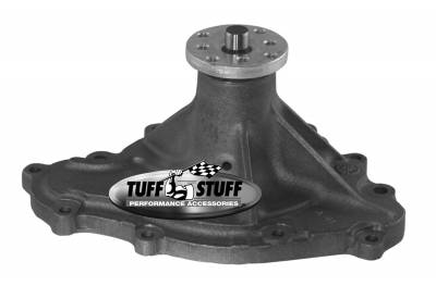 Water Pump - Pontiac - Tuff Stuff Performance - Standard Style Water Pump 4.468 in. Hub Height 5/8 in. Pilot Standard Flow 11 Bolt Pattern As Cast 1475N