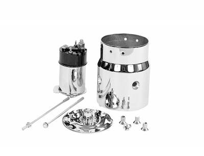 Starter - Accessories - Tuff Stuff Performance - Chrome Plated Starter Kit For Chevy/Buick/Cadillac/Olds/Pontiac/OEM And Tuff Stuff Starter PN[3510/3570/3631/3689] 7550A