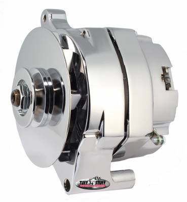 Tuff Stuff Performance - Alternator 140 AMP Hybrid OEM Wire V Groove Pulley Chrome 7078NK