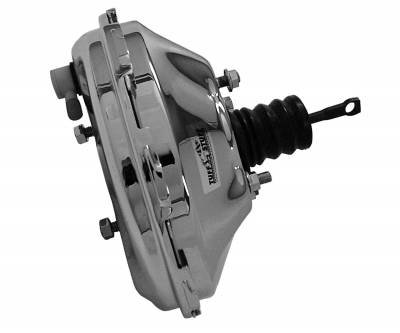 Tuff Stuff Performance - Power Brake Booster Univ. 11 in. Single Diaphragm w/Studs Incl. 3/8 in.-16 Mtg. Studs And Nuts Fits Hot Rods/Customs/Muscle Cars Chrome 2228NA