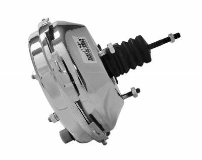Braking - Power Brake Boosters - Tuff Stuff Performance - Power Brake Booster 9 in. Single Diaphragm 3/8 in.-16 Mtg. Studs And Nuts Chrome 2233NA