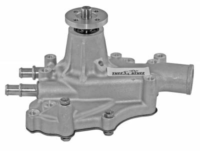 Water Pumps - Ford Small Block Water Pumps - Tuff Stuff Performance - Platinum SuperCool Water Pump 5.687 in. Hub Height 5/8 in. Pilot w/Driver Side Inlet Aluminum Casting Factory Cast PLUS+ 1467AC