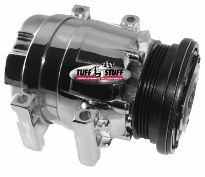 Air Conditioning Compressors - Camaro Firebird - Tuff Stuff Performance - LS1 Series A/C Compressor 4 Groove Pulley Polished 4510NB