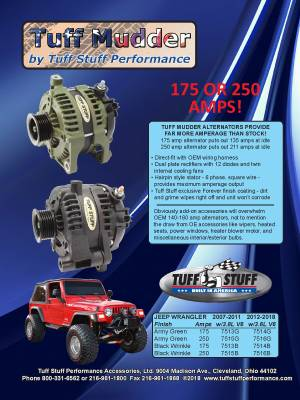 Jeep Wrangler JK Alternators
