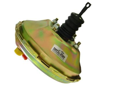 Braking - Power Brake Boosters - Universal - Tuff Stuff Performance - Power Brake Booster; Univ.; 11 in.; Single Diaphragm; w/Studs; Incl. 3/8 in.-16 Mtg. Studs And Nuts; Fits Hot Rods/Customs/Muscle Cars; Gold Zinc; 2228NB