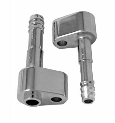 Tuff Stuff Performance - A/C Compressor Hard Line Fitting; 10mm Suction Port; 8mm Discharge Port; For 4517 Peanut SD7 Compressor; Right/Left; Chrome; 8417A
