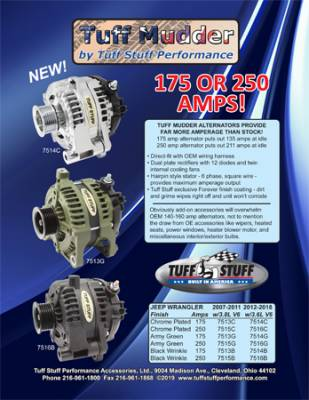 Jeep Wrangler JK High Output Alternators