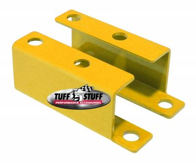 Braking - Accessories - Tuff Stuff Performance - Brake Booster Brackets Incl. Left And Right Side 1955-1958 GM For Brake Booster PN[2121/2122/2123/2124/2221/2222/2223/2228/2229/2231] Yellow Powdercoat 4652BYELLOW