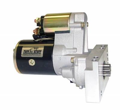 Starters - Chevy - Straight Mounting Holes - Tuff Stuff Performance - Gear Reduction Starter 1.4 KW 1.9 HP w/Straight Mounting Block 153 Or 168 Tooth Flywheel Black 6584B