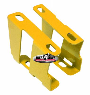 Braking - Accessories - Tuff Stuff Performance - Brake Booster Brackets Incl. Left And Right Side 1955-1964 GM For Brake Booster PN[2121/2122/2123/2124/2221/2222/2223/2228/2229/2231] Yellow 4651BYELLOW