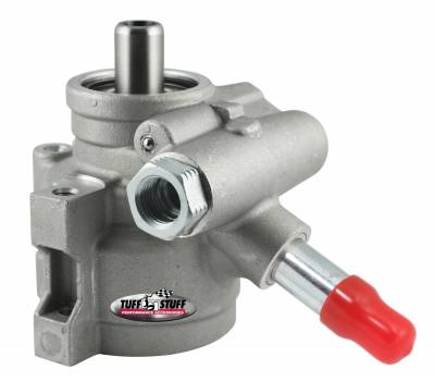 Power Steering Pumps - Type II - Universal - Tuff Stuff Performance - Type II Alum. Power Steering Pump M16 And 5/8 in. OD ReturnTube 8mm ThroughHole Mtg Btm PressurePort For Street Rods/Custom Vehicles w/Limited EngineSpace Factory Cast PLUS+ 6170AL-3
