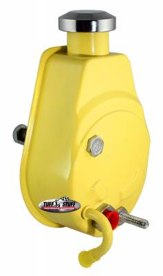 Power Steering Pumps - Saginaw - Universal - Tuff Stuff Performance - Saginaw Style Power Steering Pump Univ. Fit 5/8 in. Keyed Shaft 1200 PSI 5/8-18 SAE Pressure Fittings 3/8 in.-16 Mtg. Holes Yellow 6176BYELLOW