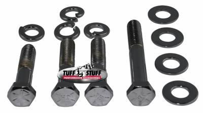Water Pumps - Accessories - Tuff Stuff Performance - Water Pump Bolt Kit Chrome Hex Incl. (1)3/8in. -16x1 3/4/(2)3/8in.-16x2 in./(1)3/8 in-16x2 3/4in. Bolts/(4) Lock And (4) Flat Washers 7675A