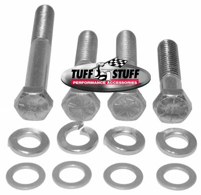 Water Pumps - Accessories - Tuff Stuff Performance - Water Pump Bolt Kit Zinc Hex Incl. (1)3/8in. -16x1 3/4/(2)3/8in.-16x2 in./(1)3/8 in-16x2 3/4in. Bolts/(4) Lock And (4) Flat Washers 7675B