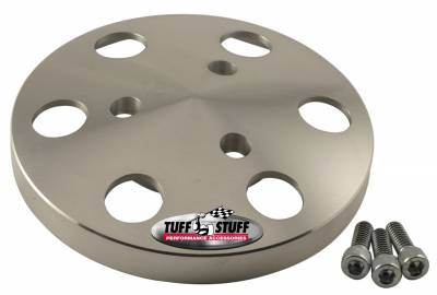 Tuff Stuff Performance - A/C Compressor Clutch Cover Machined Aluminum Plain 8490C