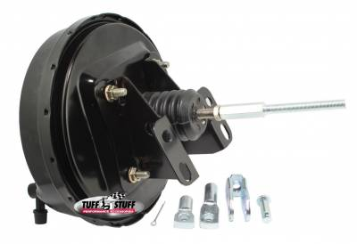 Braking - Power Brake Boosters - Tuff Stuff Performance - Power Brake Booster Univ. 9 in. Single Diaphragm Incl. 3/8 in.-16 Mtg. Studs And Nuts Fits Hot Rods/Customs/Muscle Cars Stealth Black 2226NC
