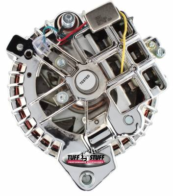 Tuff Stuff Performance - Alternator 60 AMP 1 Wire Double Groove Pulley Chrome 8509RBDP - Image 3