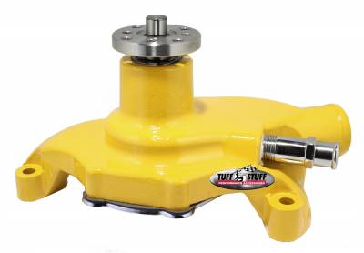 SuperCool Water Pump 5.625 in. Hub Height 5/8 in. Pilot Short Threaded Water Port Yellow Powdercoat w/Chrome Accents 1354NCYELLOW