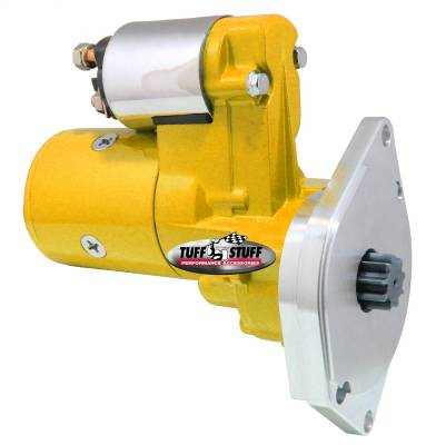 Gear Reduction Starter 3.75:1 1.9 HP 2 Bolt Mounting Yellow Powdercoat w/Chrome Accents 6585BYELLOW
