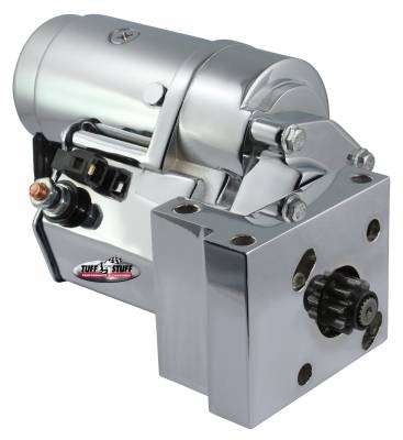 Gear Reduction Starter Tuff Torque 18:1 w/Offset Mounting Block 168 Tooth Flywheel Chrome 13510A
