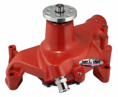Tuff Stuff Performance - Platinum SuperCool Water Pump 6.937 in. Hub Height 5/8 in. Pilot Long Aluminum Casting Red Powdercoat w/Chrome Accents 1511NCRED - Image 2