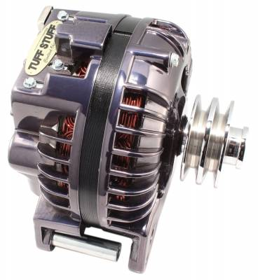 Tuff Stuff Performance - Alternator 100 AMP 1 Wire Double Groove Pulley Black Chrome 8509RDDP7 - Image 2