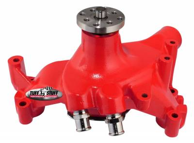 SuperCool Water Pump 7.281 in. Hub Height 5/8 in. Pilot Long (2) Threaded Water Ports Red Powdercoat w/Chrome Accents 1461NCRED