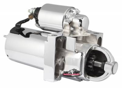 Gear Reduction Starter 4.4:1 Staggered Bolt Pattern w/Offset Mounting Block 168 Tooth Flywheel Chrome 6510NA