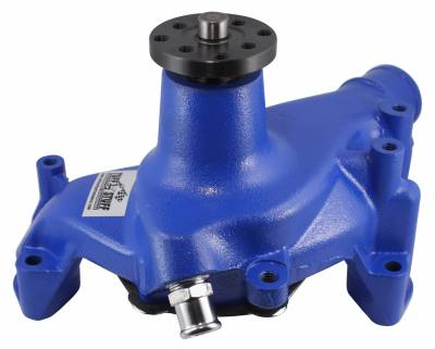 SuperCool Water Pump 6.937 in. Hub Height 5/8 in. Pilot Threaded Water Port Blue Powdercoat w/Chrome Accents 1449NCBLUE