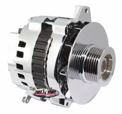 Alternator 105 AMP 1 Wire Or OEM 6 Groove Pulley Polished 7860DP6G