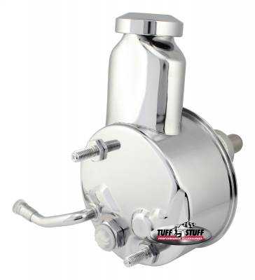 Saginaw Style Power Steering Pump Direct Fit 3/4 in. Press Fit Shaft 1200 PSI 3/8 in.-16 Mtg. Holes Chrome 6166A