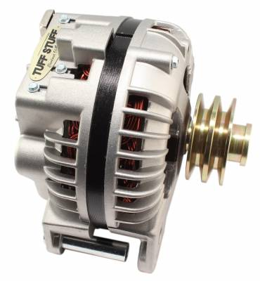 Tuff Stuff Performance - Alternator 100 AMP 1 Wire Double Groove Pulley Factory Cast PLUS+ 8509DDP - Image 1