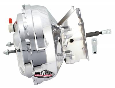 Power Brake Booster 11 in. Dual Diaphragm Incl. Booster Mtg. Bracket/10mm - 1.5 Threaded Studs And Nuts Chrome 2232NA