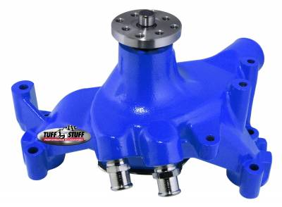 SuperCool Water Pump 7.281 in. Hub Height 5/8 in. Pilot Long (2) Threaded Water Ports Blue Powdercoat w/Chrome Accents 1461NCBLUE
