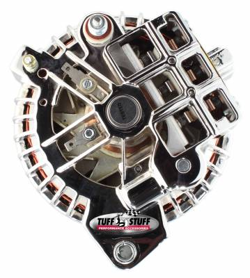 Tuff Stuff Performance - Alternator 100 AMP OEM Wire Double Groove Pulley Chrome 8509RCDP - Image 3
