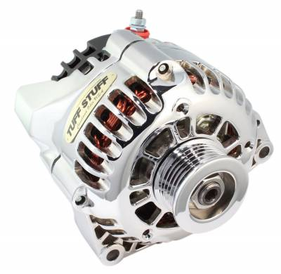 Alternator 125 AMP Chrome Plated 1-Wire Or OEM Hookup Side Post 6 Groove Pulley 8206NA1