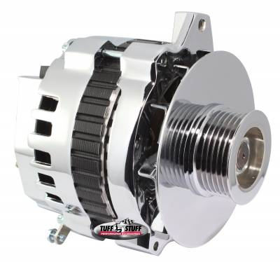 Alternator 105 AMP 1 Wire Or OEM 6 Groove Pulley Chrome 7860D6G