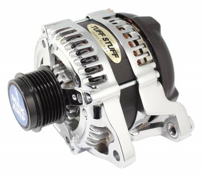 Alternator 175 High AMP 6 Groove Clutch Pulley Polished Aluminum 8439P