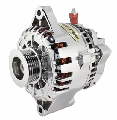 Alternator 110 AMP OEM Wire 6 Groove Pulley Aluminum Polished 8266AP