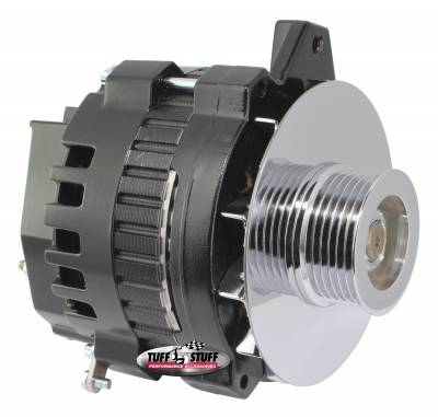 Alternator 105 AMP 1 Wire Or OEM 6 Groove Pulley Black 7860E6G