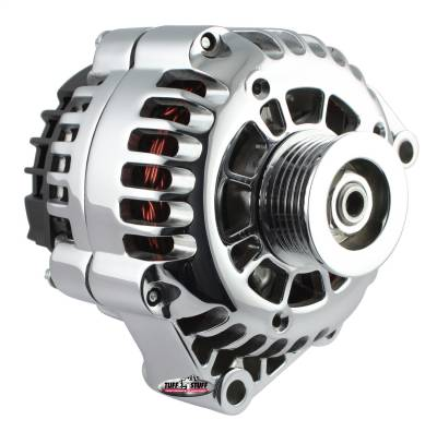 Alternator 175 AMP Upgrade Chrome Plated 1-Wire Hookup Back Post 6 Groove Pulley 8283NC1