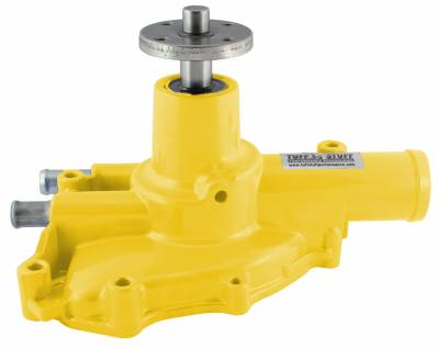 Platinum SuperCool Water Pump 5.735 in. Hub Height 5/8 in. Pilot Reverse Rotation Yellow Powdercoat Driver Side Inlet 1594NCYELLOW