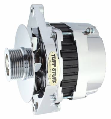 Tuff Stuff Performance - Alternator 170 AMP OEM Wire 6 Groove Pulley Double Groove Heavy Duty Ball Bearings Aluminum Polished 7864AP - Image 1
